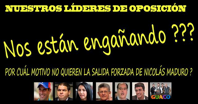Qué hay detrás de la insistencia de la cúpula opositora de negociar con el delincuente de Maduro ?
