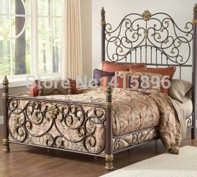 model tempat tidur besi klasik 4