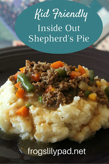 Day 5 of 31 Days of Homemaking: A recipe that is quick, easy and kid friendly. Inside Out Shepherd's Pie is yummy and full of flavor your family is going to love. frogslilypad.net