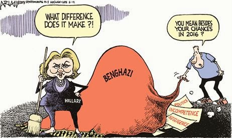 This Cartoon Makes Reference To The Phrase Sweeping It Under Rug Benghazi Scandal In Libya And Former United States Secretary Of State Hillary