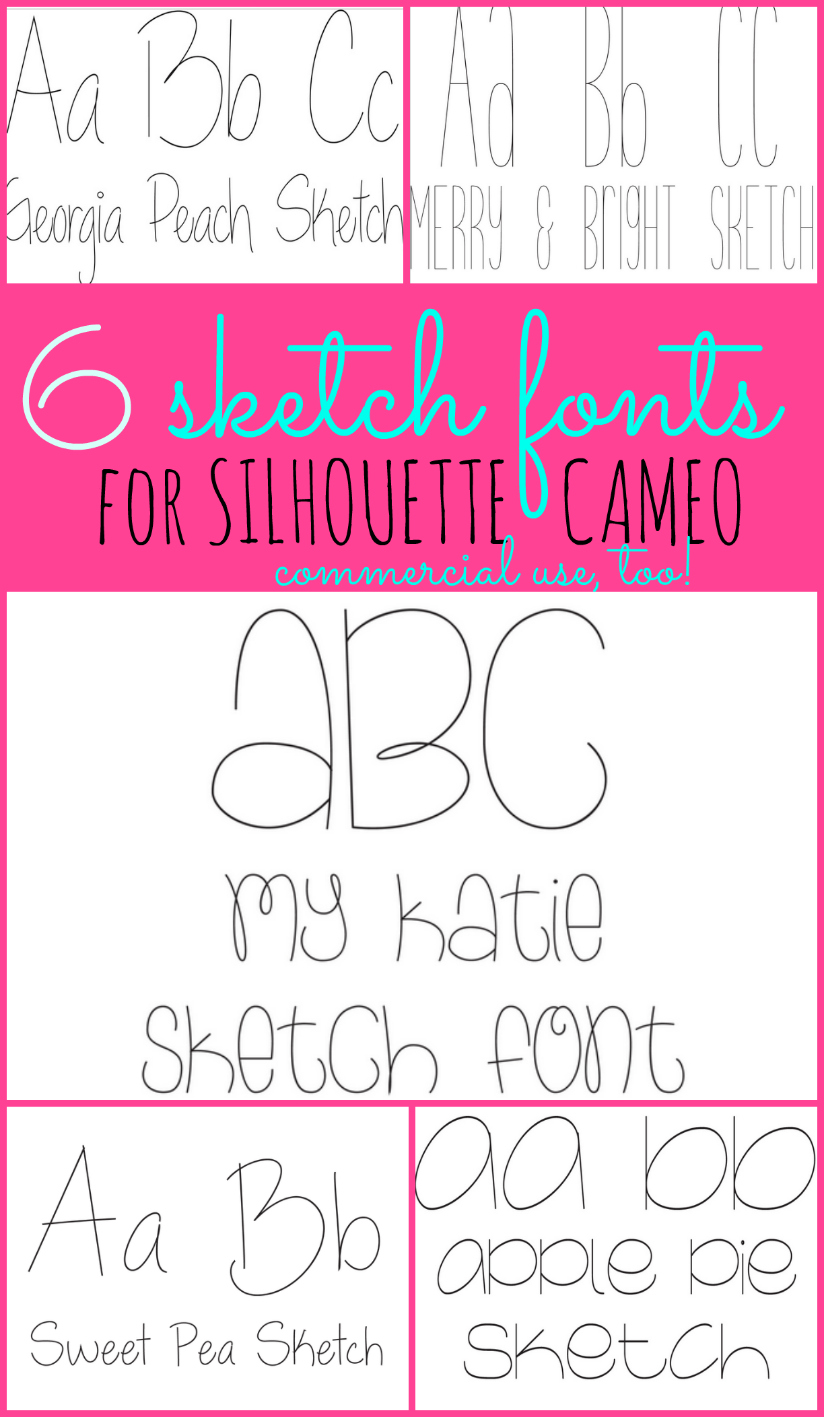 Sketch Pen Fonts The Best Thin Fonts For Silhouette - Silhouette School