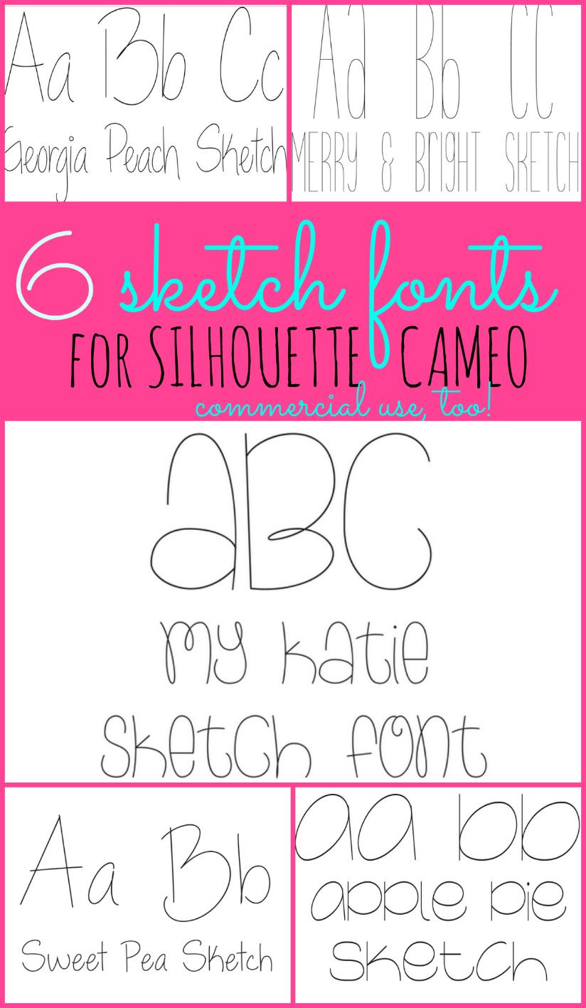 Single Line Font : single, Sketch, Fonts:, Fonts, Silhouette, School