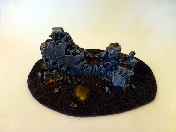 40k terrain - ruined barricade no 2 - front