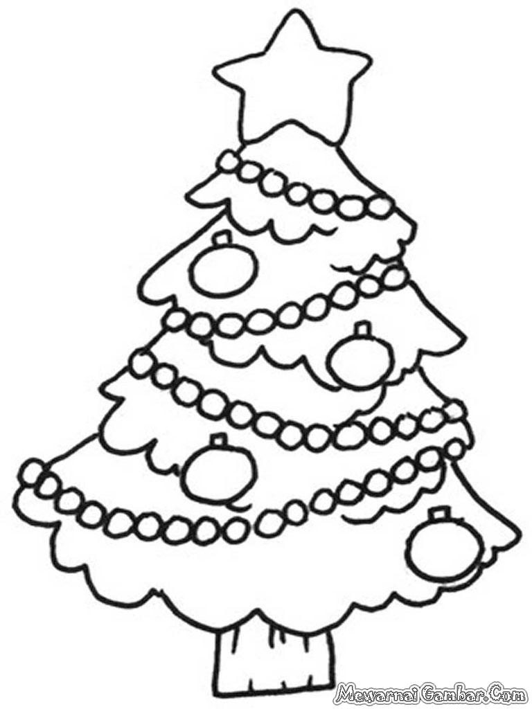 Lebih Dari 100 Gambar Pohon Natal Mewarnai