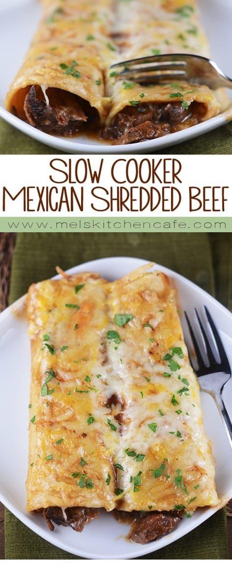 Slow Cooker Tender Beef (For Enchiladas)
