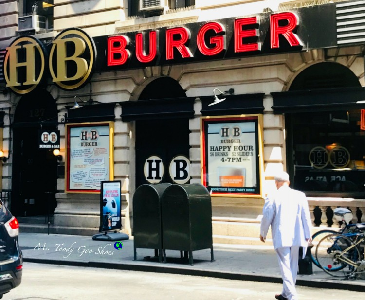 HB Burger- One of  50 Places To Eat Near Tiimes Square - From Cheap To Chic! | Ms. Toody Goo Shoes