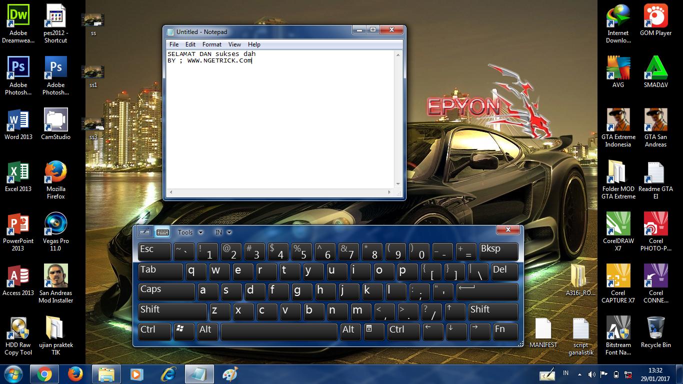 Cara Memunculkan Widged Keyboard di Laptop Terbaru
