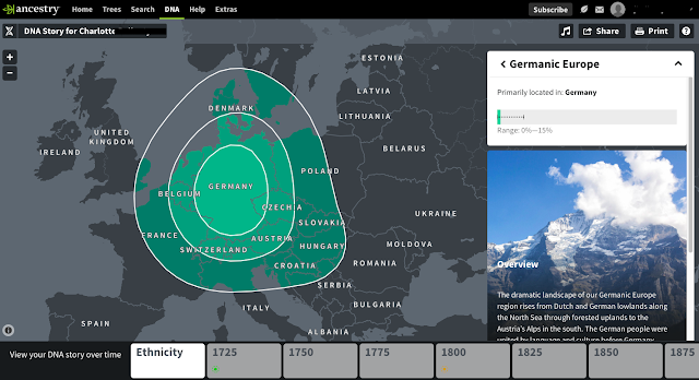 Ancestry DNA results screenshot