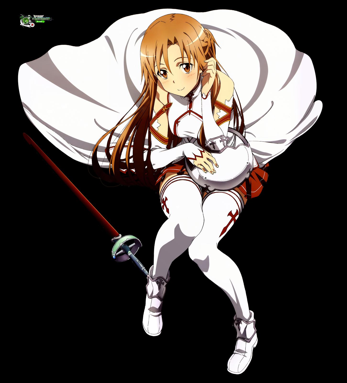 Sword Art Online:Asuna Yuuki Hyper Cute Soldier Render V1