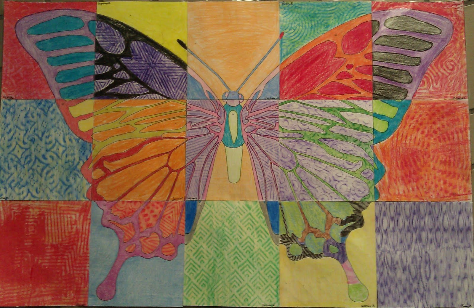 Allgoldeverythingart Butterfly Mural From Art Projects For Kids
