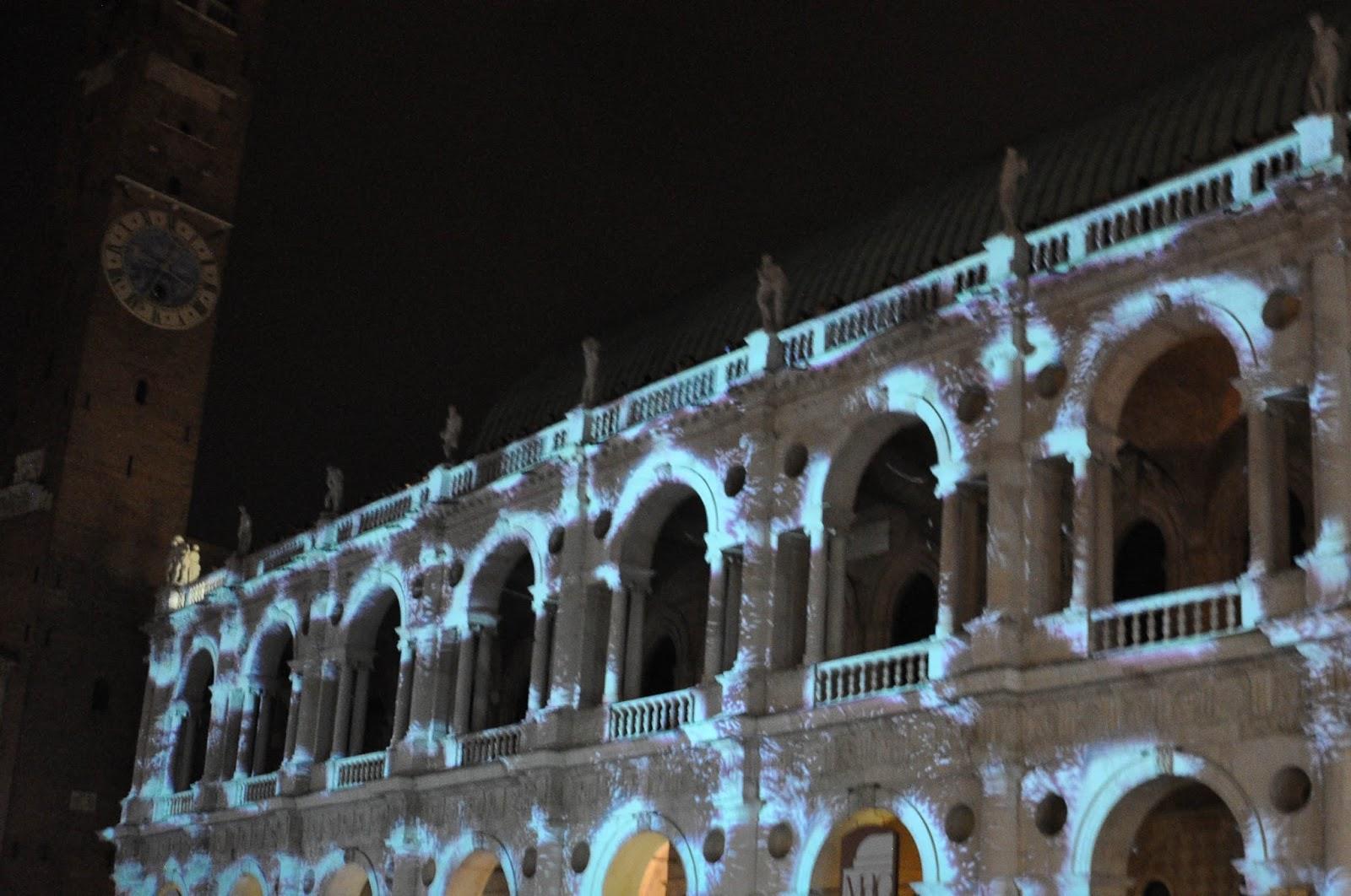 Lightshow, Palladio's Basilica, Vicenza, Italy