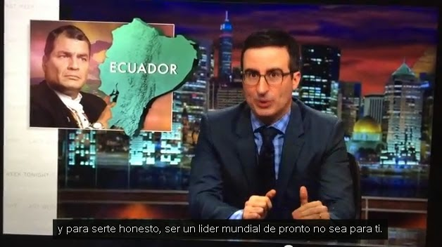 John Oliver se burla de presidente Correa