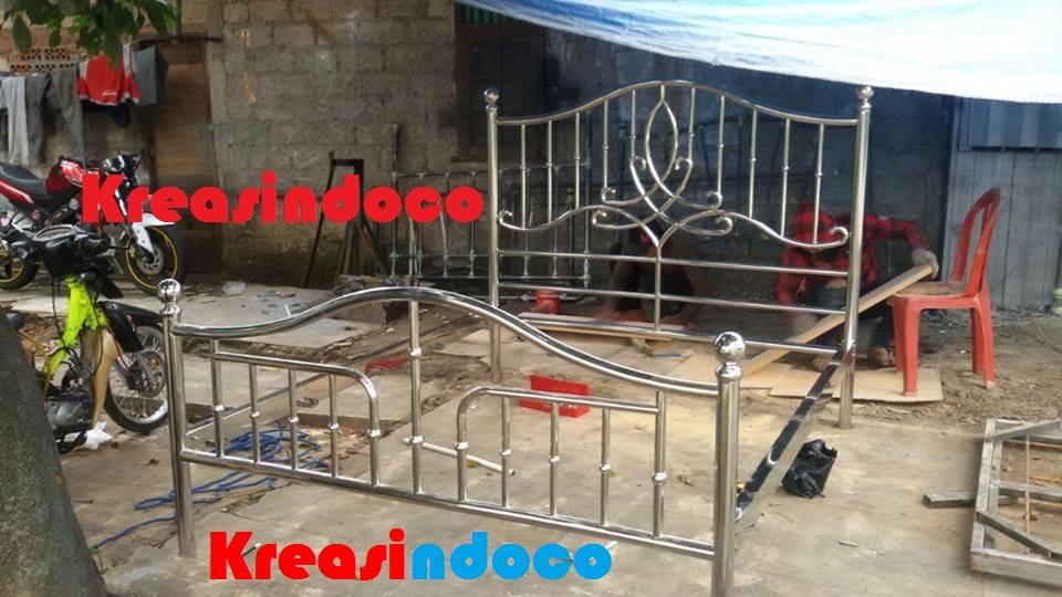 Ranjang stainless steel Tempat Tidur Besi Stainless Steel