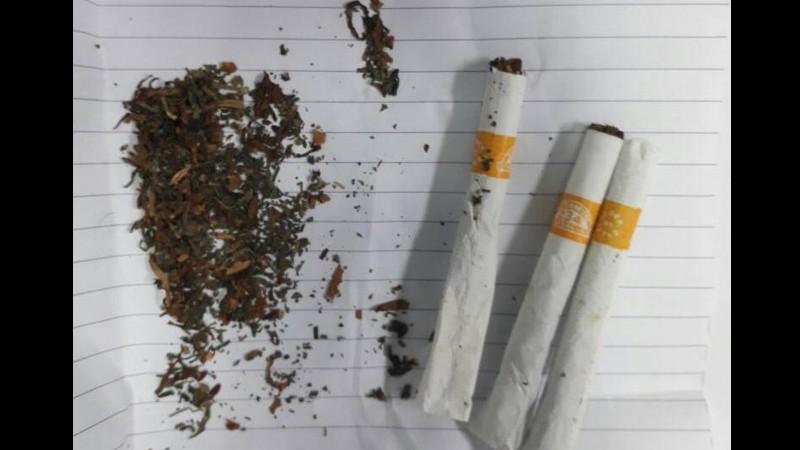 Barang bukti 3 batang rokok yang berisikan ganja