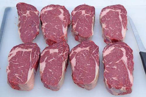 Dry aged, Certified Angus Beef Brand ribeye steaks