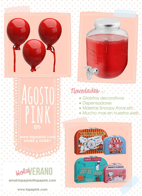 Tape Pink: ¡Hola Agosto!
