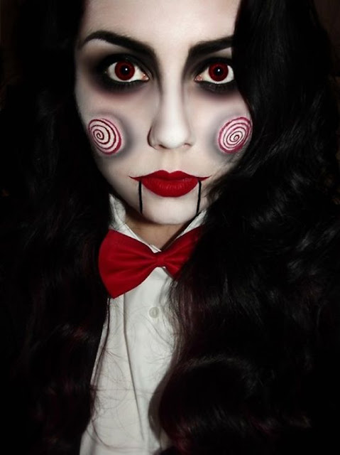 Last Minute Easy Halloween Makeup Ideas , Scary but easy Halloween Makeup , Halloween Makeup Looks, Cute Halloween Makeup