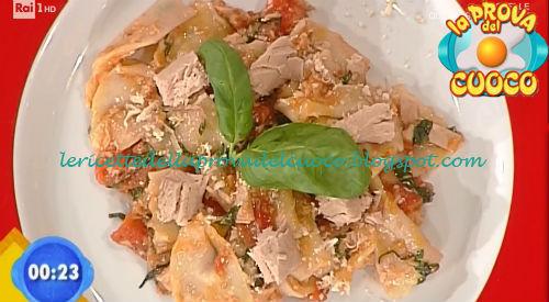 Farfalle con tonno pomodoro e ricotta affumicata ricetta Bertol da Prova del Cuoco