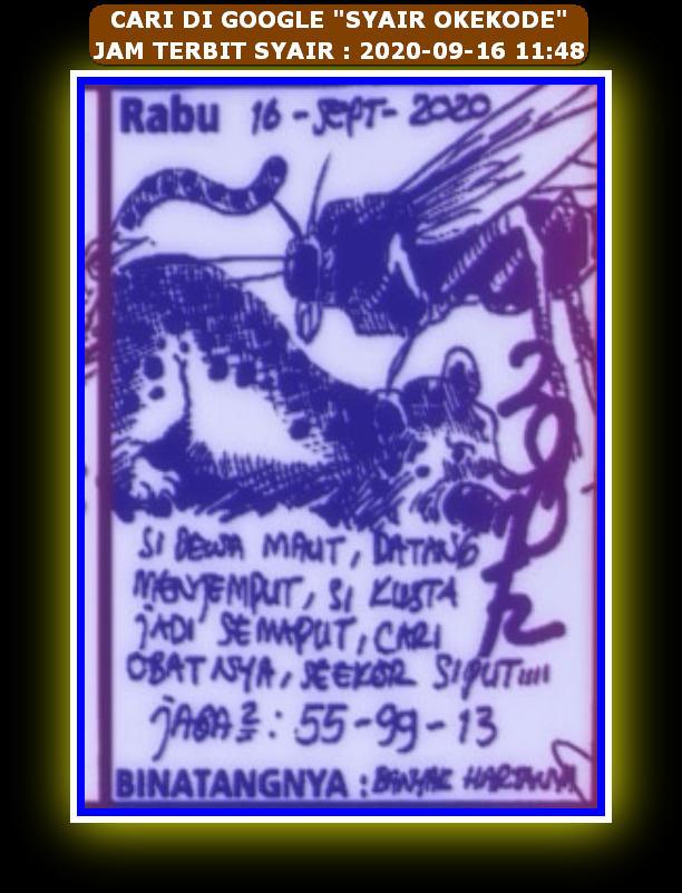 Kode syair Hongkong Rabu 16 September 2020 143