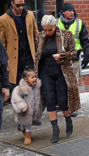 Kim K and North West enjoy the snow in NYC (photos)