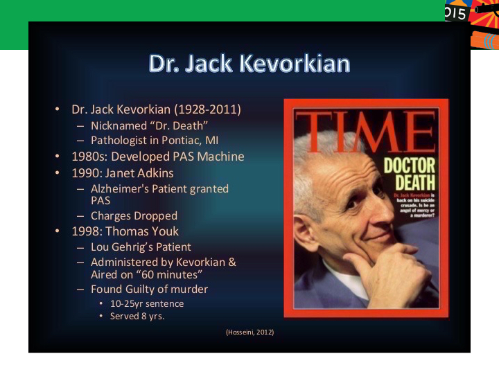 the balance between death and living through dr jack kevorkians assisted suicide cases Detroit - jack kevorkian, the audacious, fearless doctor who spurred on the national right-to-die debate with a homemade suicide machine that helped end the lives of dozens of ailing people, died.