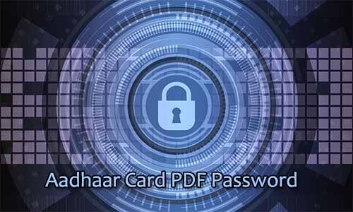 i forgot my aadhar pdf password