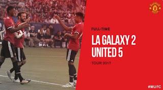 Manchester United Menang 5-2 atas LA Galaxy plus Video Gol