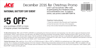 Ace Hardware coupons december
