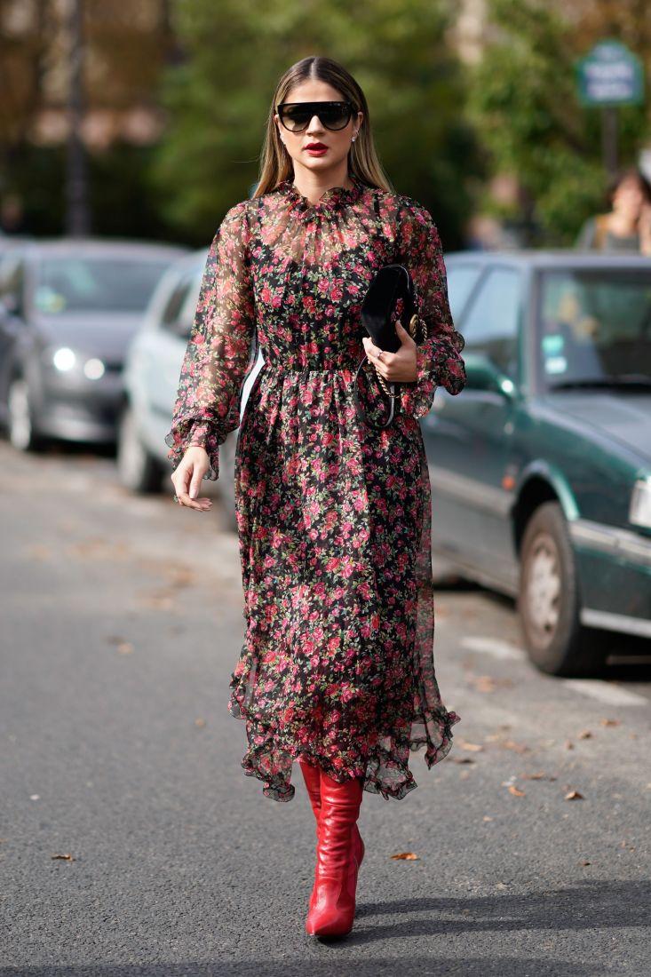 2edeb3f46373 Moda Rosso Abiti Alla – Fiori Zara Vestito Con pVqSUzM