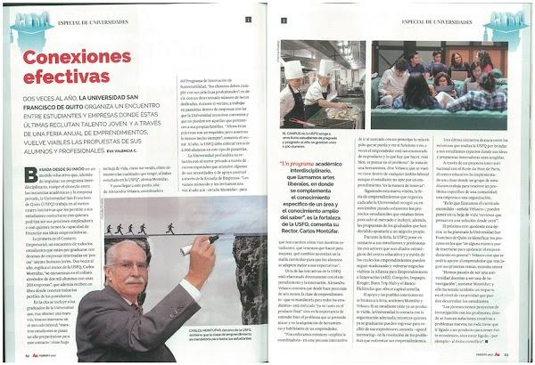 Conexiones Efectivas con las participaciones de Carlos Montúfar, Rector USFQ y Alexandra Velasco USFQ