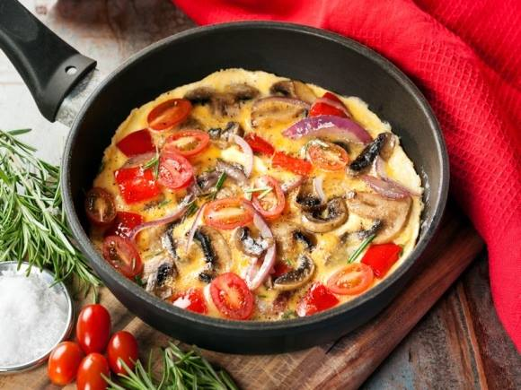 resepi telur dadar tomato cendawan