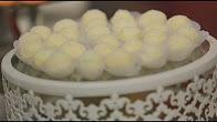 طريقة عمل كرات شوكولاتة بيضاء باللوز مع سالي فؤاد في حلو وحادق