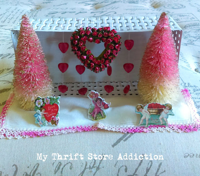 repurposed valentine diorama