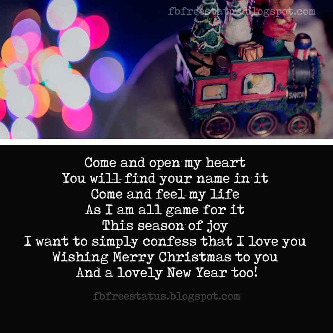 Merry Christmas Love Quotes, Messages, Greeting Photos