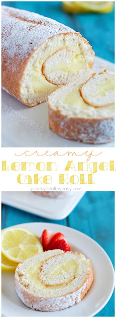 Creamy Lemon Angel Cake Roll