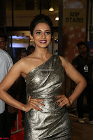 Rakul Preet Singh in Shining Glittering Golden Half Shoulder Gown at 64th Jio Filmfare Awards South ~  Exclusive 032.JPG