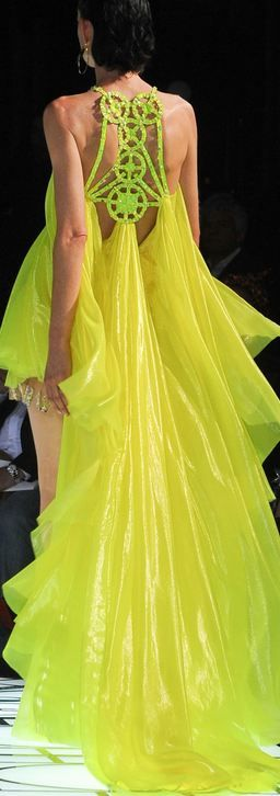 Yellow Dress Ramp Fashion