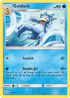 Golduck Sun and Moon Pokemon Card