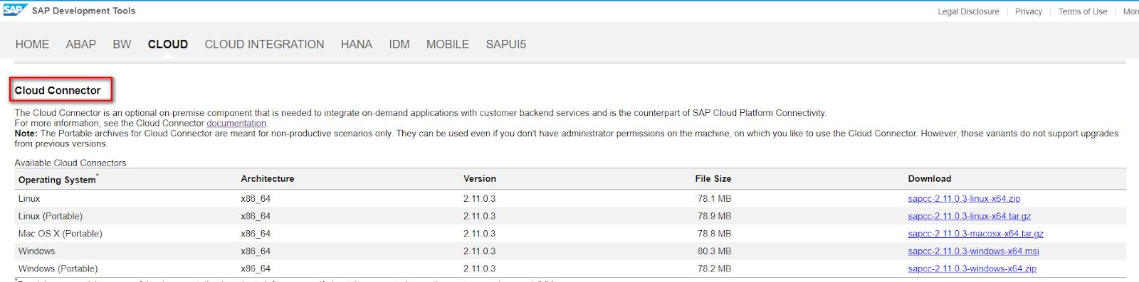SAP ABAP Central: Use SAP Cloud Connector + SAP Cloud