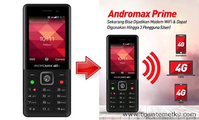 Cara Hotspot Andromax Prime 4G LTE