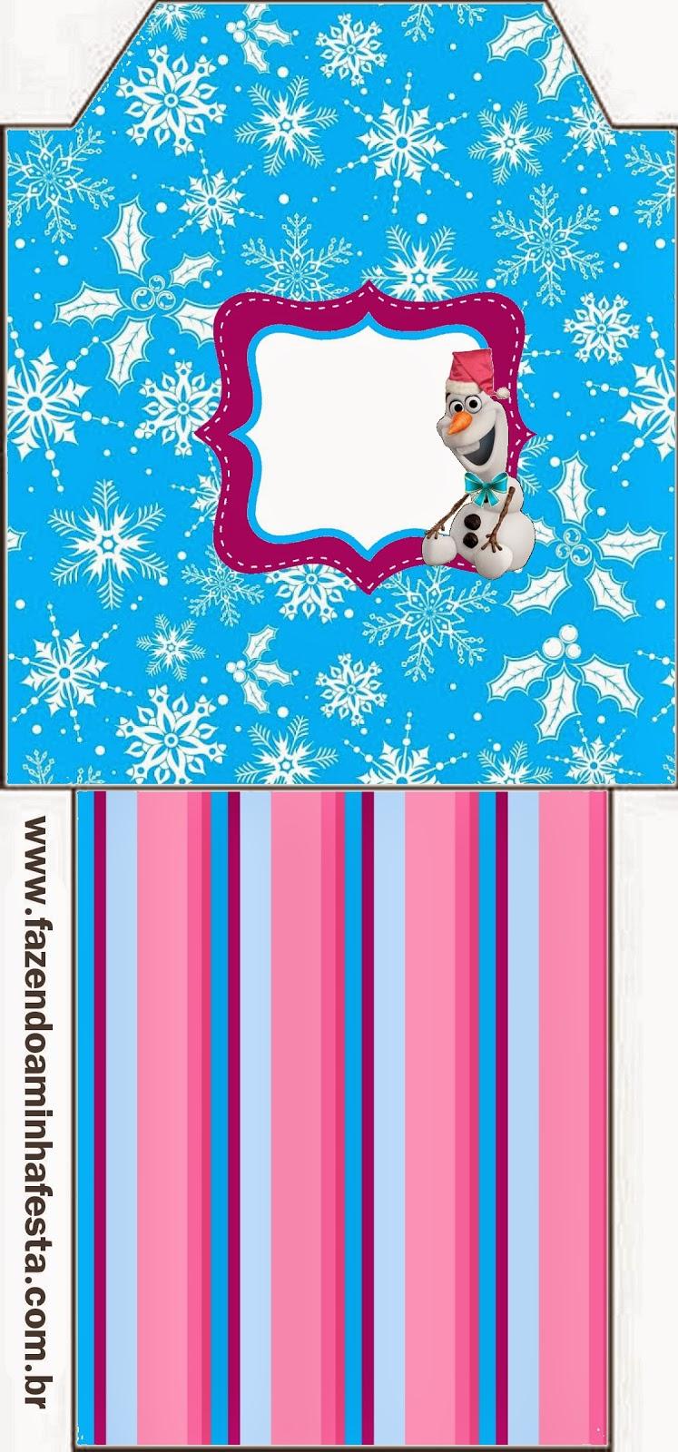 Bolsita de Té para imprimir gratis de Frozen para Navidad.
