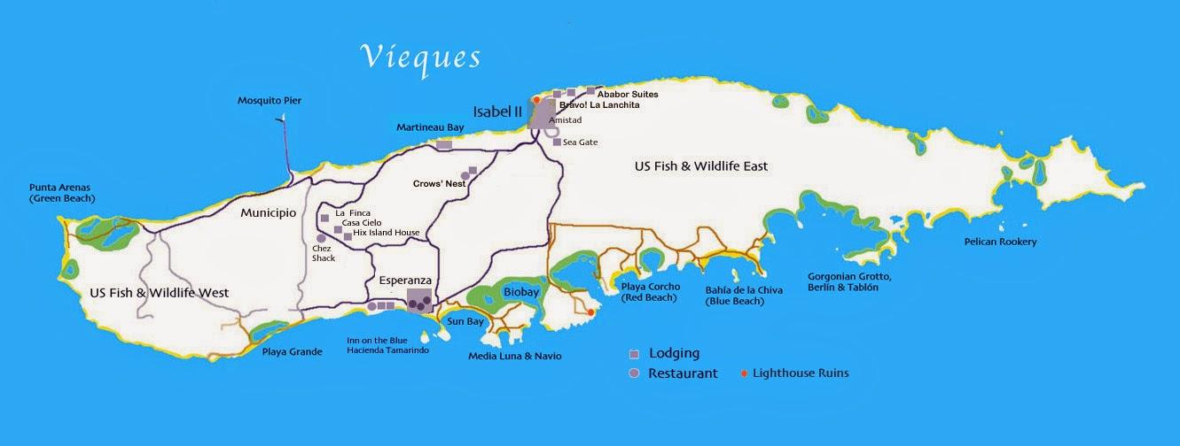 Road Map Puerto Rico Island