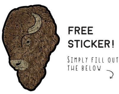 احصل على ملصقات Bison مجانا الى باب بيتك