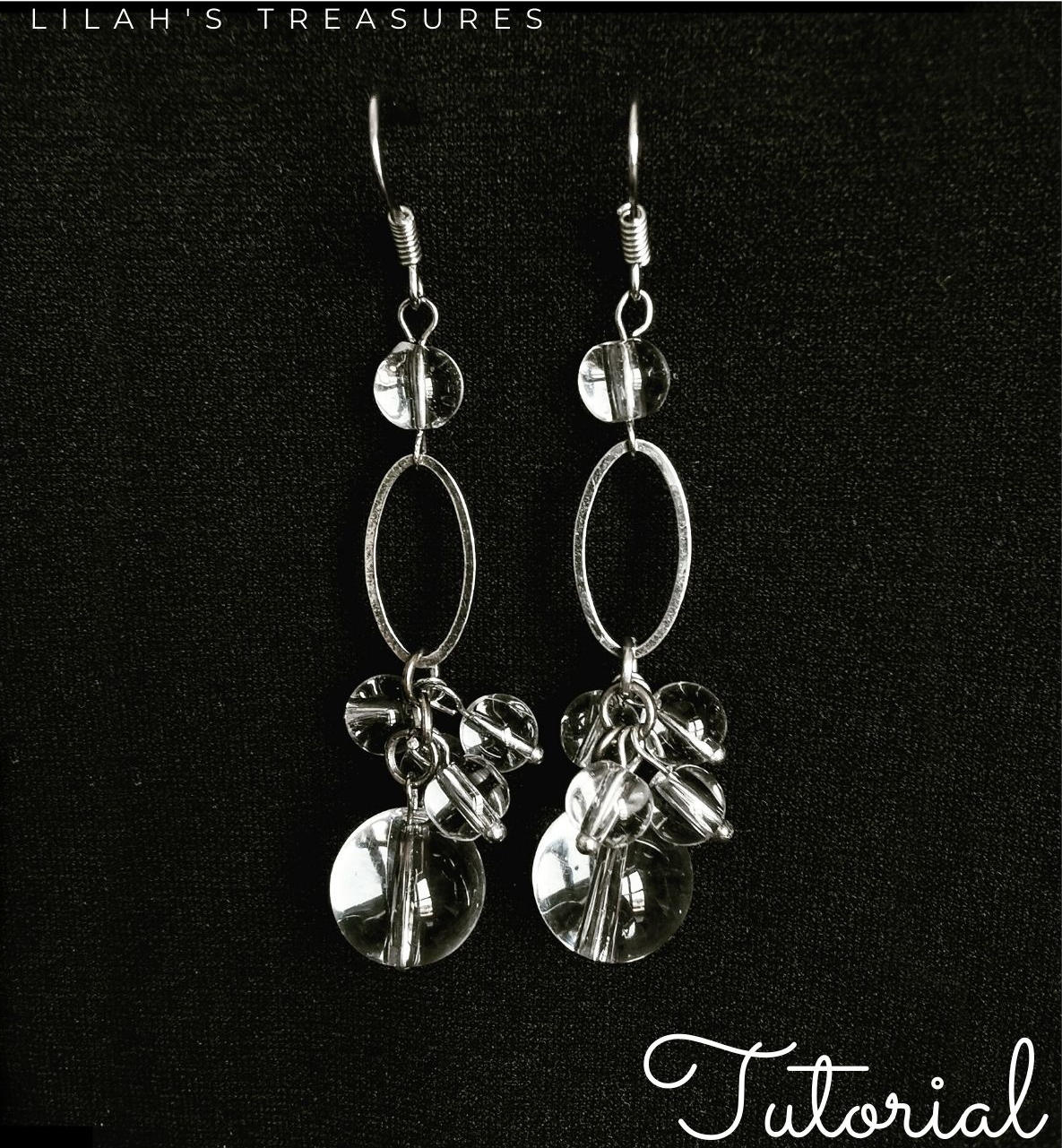 clear cluster earrings
