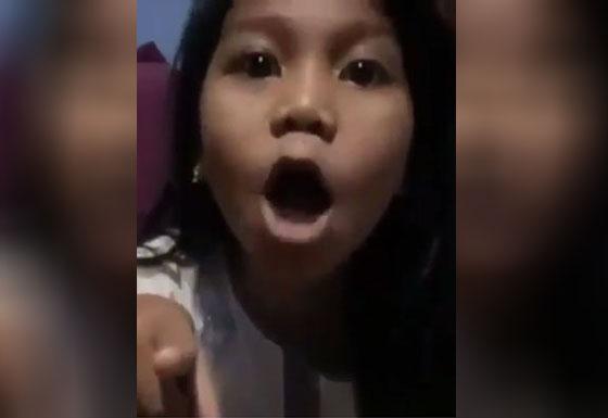Video Gadis Cilik Perankan Tokoh Antagonis Ini Bikin Ngakak dan Jadi Viral
