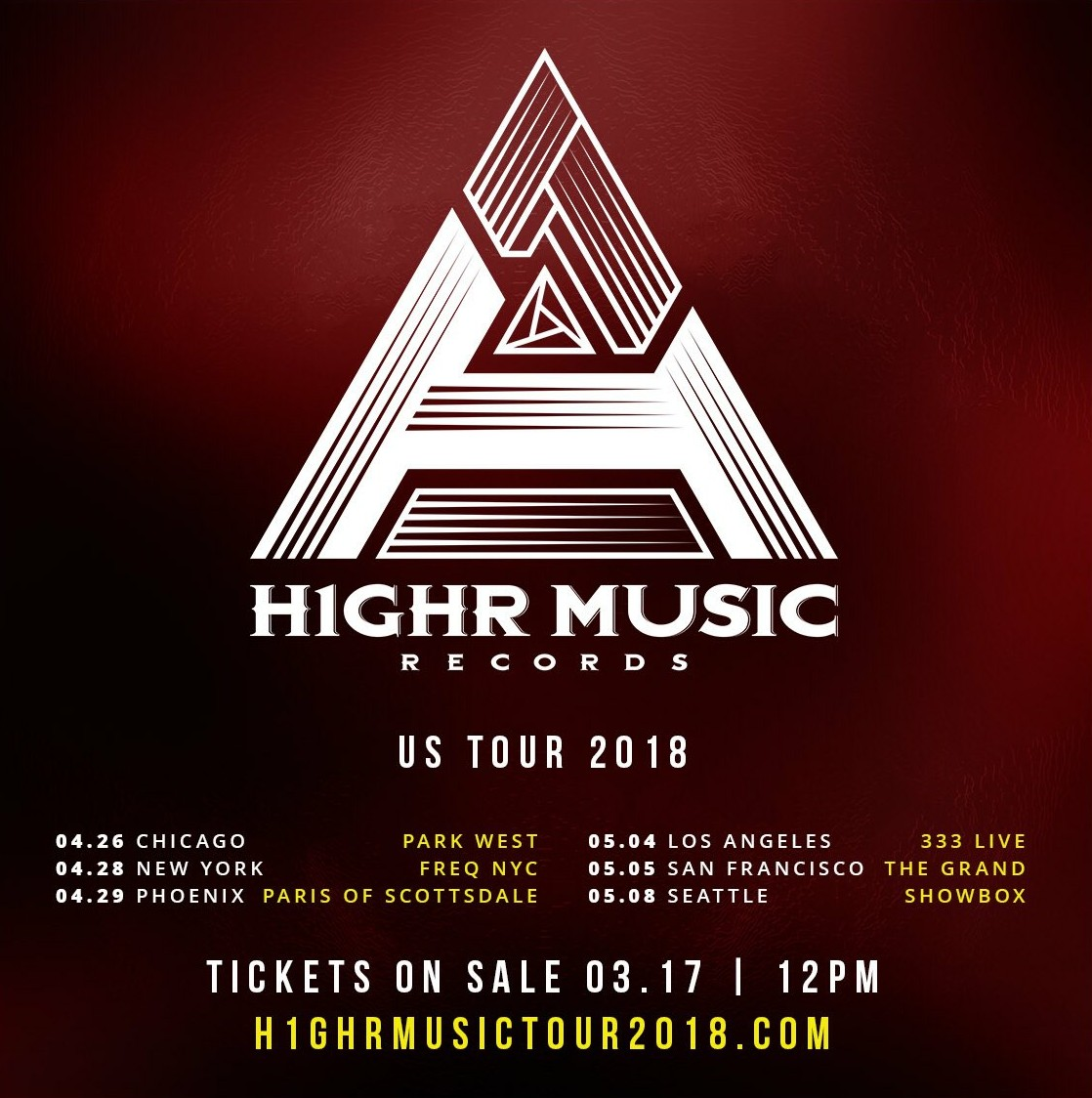 Image result for h1ghr music tour