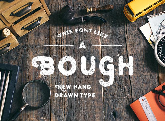 Bough Free Hand-Drawn Typeface