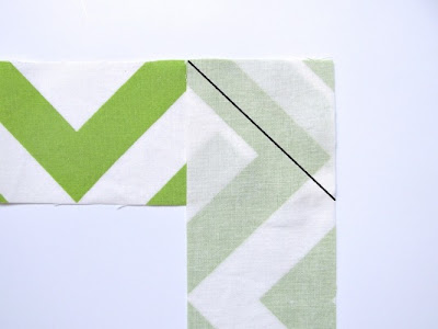 How to sew binding strips together