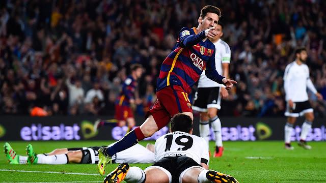 Messi chegou aos 500 gols na carreira vontra o Valencia