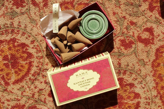Kama Ayurveda Kannauj Rose Incense Cones